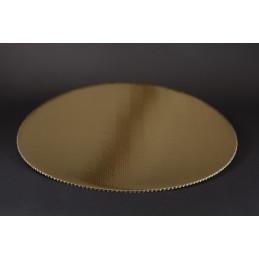 Złote podkłady pod torty średnica 24 cm