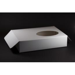 Producent opakowań: Pudełko na ciastka z okienkiem 325x235x75