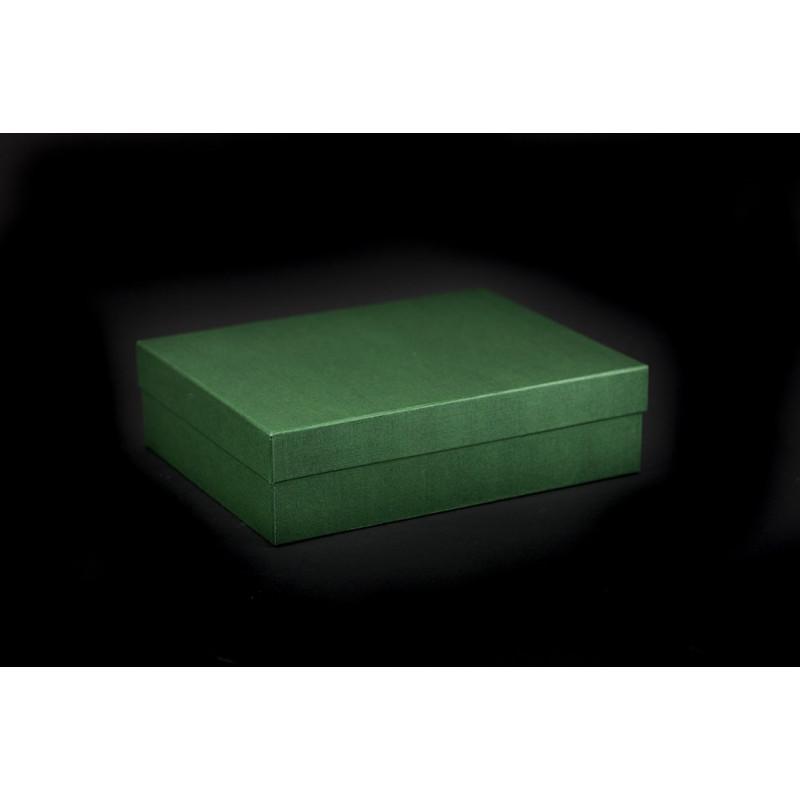 Pudełko oklejane 26x20x7cm - zielone