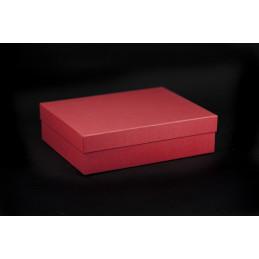 Pudełko oklejane 26x20x7cm - czerwone