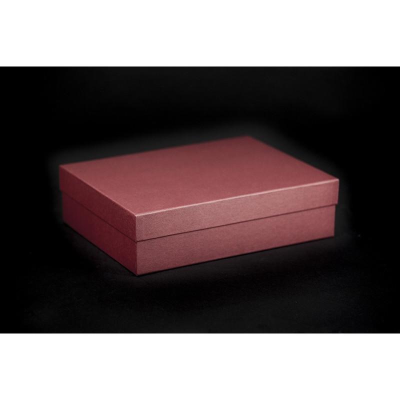 Pudełko oklejane 26x20x7cm - bordowe