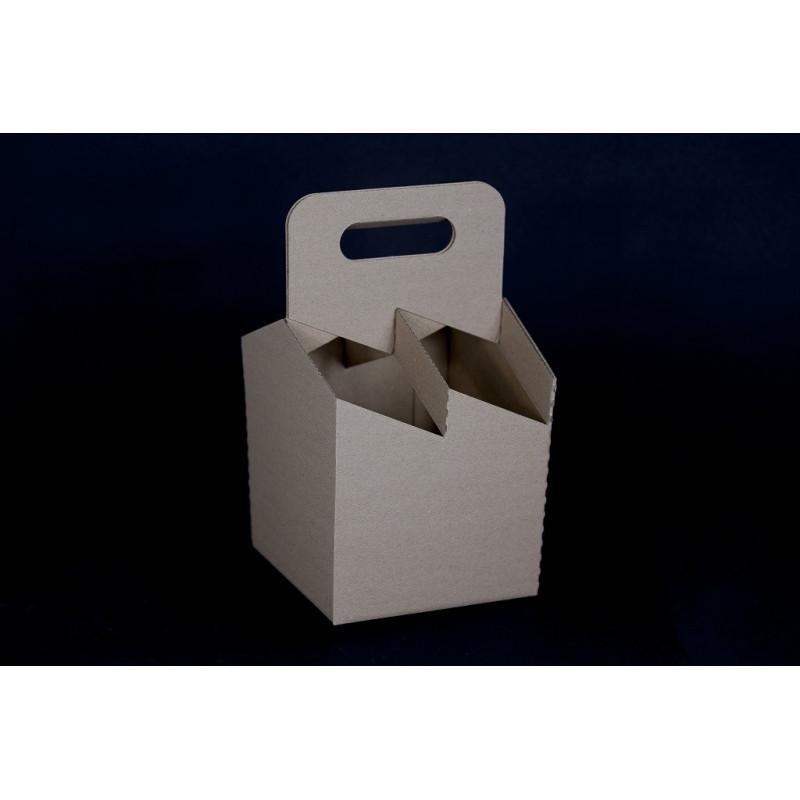 Czteropak - pudełko z uchwytem na 4 butelki 0,5l