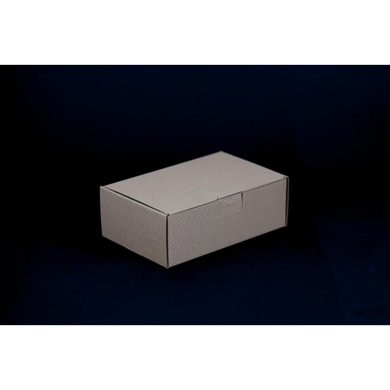 Opakowanie prezentowe 18,5x12,5x6,5cm - brązowe w prążki