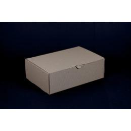 Opakowanie prezentowe 26x18x8,5cm - brązowe w prążki
