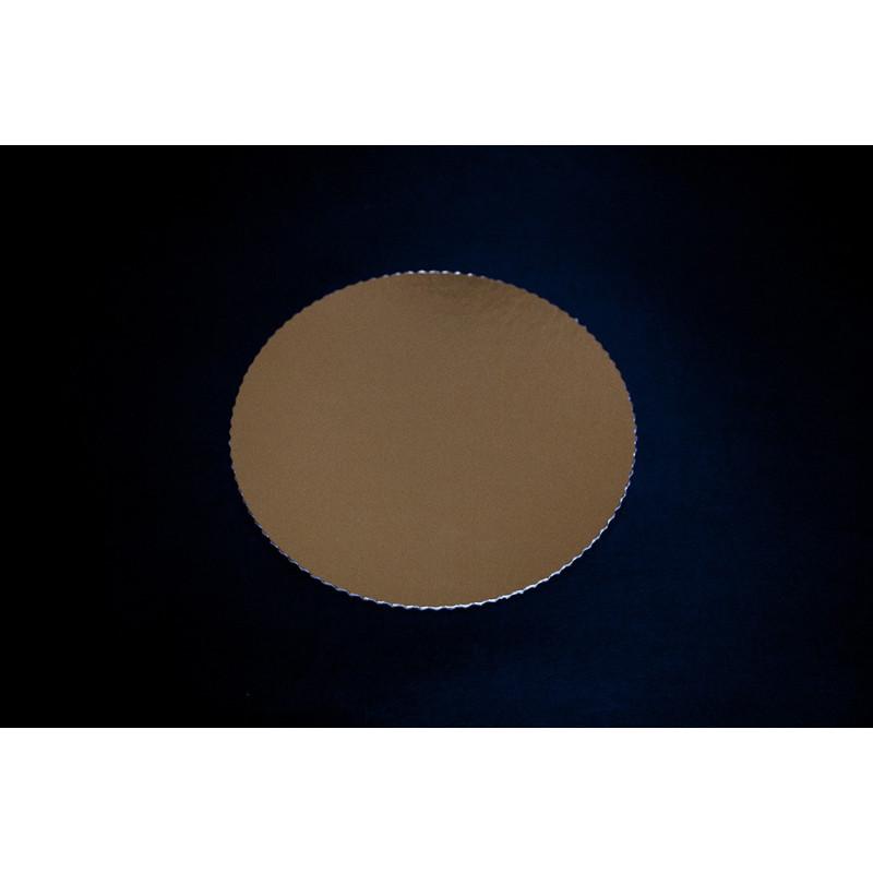 Złote podkłady po torty - fi 34cm, tektura introligatorska 2mm