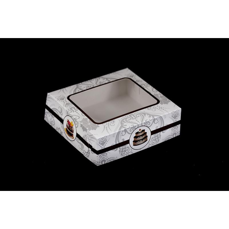 Pudełko na ciastka 20x20x6,5cmm z nadrukiem kolorowym