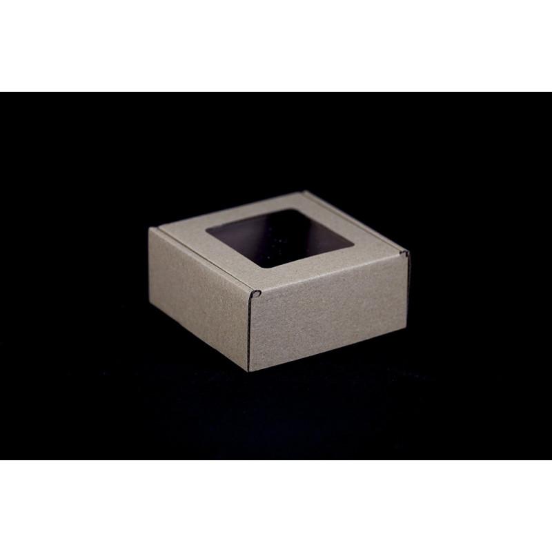 Pudełko na mydełko brązowe - 110x110x50mm