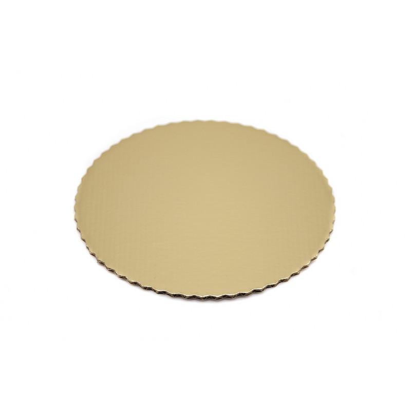 Złote podkłady pod torty średnica 18cm