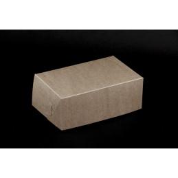 Pudełko na ciastka 19,5x12,5x7,5cm - brązowe