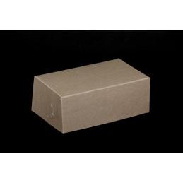 Pudełko na ciastka 19,5x12,5x7,5cm - brązowo-białe