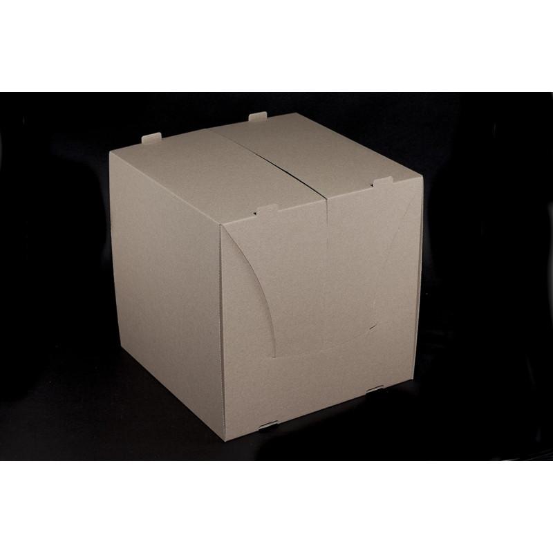 Pudełko na tort 30x30x30cm - brązowe