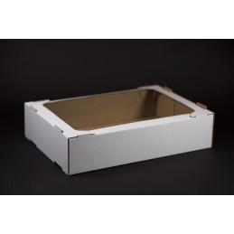 Tacka tekturowa cukiernicza - kontener 360x245x80