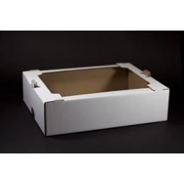 Tacka tekturowa cukiernicza - kontener 390x300x100